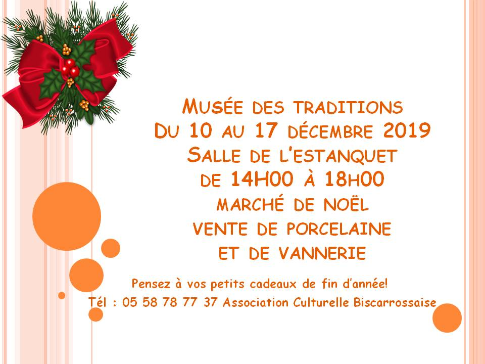 flyer noel 2019 musee des traditions